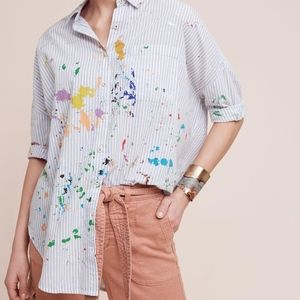 Holding Horses Anthropologie Painterly Button Down